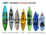 Kajak plástico de la sola pesca barata del océano para la venta al por mayor
