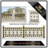 Dekorativer Entwurfs-Gussaluminium-Zaun für das Garten-Fechten