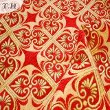 2017 jacquard rojo brillante de alto grado sofá de tela (FTH31615)