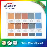 Impresión interior de la tarjeta del color de la pintura del material de construcción