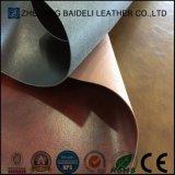Горячая кожа PVC конструкции для драпирования мебели с затыловкой Microfiber