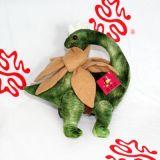 Il dinosauro originale della peluche di Dac scherza il sofà