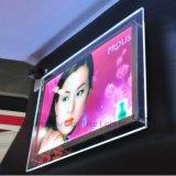 ハングの印のボードLEDハングポスターフレームの店先の表示水晶ライトボックス