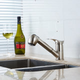 Faucet escovado niquelar do dissipador da bacia da cozinha