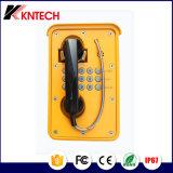 Teléfono al aire libre Knsp-09 del teléfono a prueba de mal tiempo del teléfono de la mina subterránea