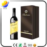 Alta calidad de encargo de la insignia de la impresión que empaqueta el rectángulo de cuero del vino de la PU