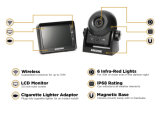 камера цифрового сигнала 3.5-Inch беспроволочная резервная, основанный на магнитной и с батареей