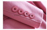 Пальто пыли 100% розовой женщины шерстяное