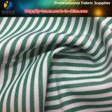 普及したT/Cの女性の偶然のワイシャツのためのヤーンによって染められる縞の織布