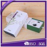 Commercio all'ingrosso cosmetico della casella di carta del nero di figura dell'arco con il coperchio provvisto di cardini