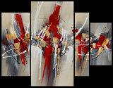 Peinture à l'huile abstraite d'art de mur de groupe