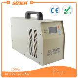 Inversor da potência solar do inversor do UPS de Suoer 12V 1000W com carregador interno 20A (branco de HPA-1000C)