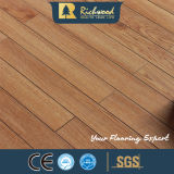 revestimento estratificado de madeira V-Grooved da hicória de 12mm HDF AC4