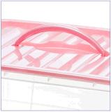 Récipient d'entreposage en plastique en plastique transparent coloré de cadre de mémoire pour le ménage Produts