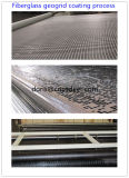 Стеклоткань Geogrid для подкрепления выстилки дороги и моста, низкой стеклоткани Geogrid удлиненности 3% с сертификатом Ce