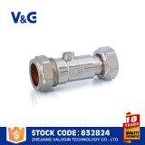 Латунным задерживающий клапан покрынный кромом двойной (VG-A60202)