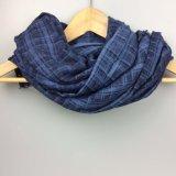 100% écharpe rayée de coton, châle de l'hiver pour l'accessoire de mode de femmes