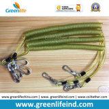 Инструмента весны безопасности сильного провода кабеля поводок прозрачного зеленого Extendable