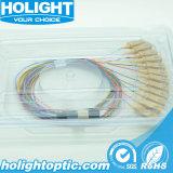 Sc óptico de los colores de la coleta 12 de fibra con varios modos de funcionamiento