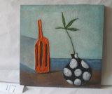 Pintura colgante de deriva de la botella del modelo de la lona decorativa roja del hogar