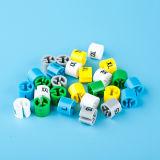 Bunte Plastikkleiderbügel-Größen-Würfel-Größen-Markierung für Aufhängung (LT-8026-1)
