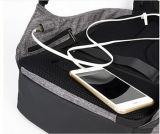 Água contra-roubo trouxa do portátil da lona de 15.6 polegadas com porta cobrando do USB