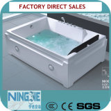 Vasca da bagno quadrata acrilica di massaggio della vasca calda del mulinello di Sanitaryware (517)