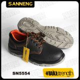 De industriële Schoenen van de Veiligheid van het Leer met Nieuwe Zool PU/PU (Sn5554)