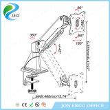 Bras simple de moniteur de Jeo 180 canalisation verticale réglable de moniteur de bride de bureau de la hauteur Ys-Ga11fu d'émerillon de degré