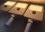 12hrs 100%年の明るさの働くモードの特許を取られたデザイン5800lm 45W太陽LED街灯