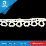 Lacet africain de tissu de cordon de guipure de Lemo Tulle, lacet Wedding de broderie