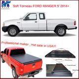 Ford Ranger 5 ' 2014+를 위한 100% 일치된 최고 트럭 자동차 뒷좌석 부분 덮개