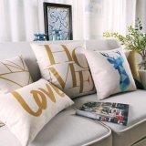Крышки подушек хода люкс хлопка Linen для зазора кровати