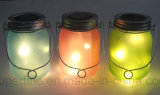 Luz solar caliente del tarro de la luciérnaga LED del vidrio helado del producto del verano 2017 para el jardín