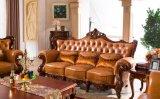 Sofà del cuoio della mobilia di stile dell'Europa con cuoio genuino per la mobilia del salone