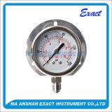 Calibre de pressão de aço inoxidável - medidor de pressão de sinalização de pressão de glicerina