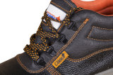 Обувь из натуральной кожи со стальным носком и пластиной, высокая лодыжка