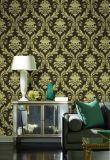 Papier peint de damassé de vinyle de PVC de prix de gros de la Chine 1.06m pour la décoration à la maison