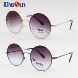 Óculos de sol clássicos do metal da forma com forma redonda (KS1247)