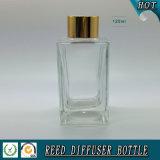 Glasflasche des rechteckigen Reeddiffuser- (zerstäuber)100ml mit Goldschutzkappe