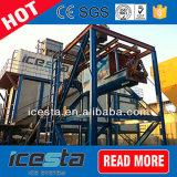 Gelo da máquina de gelo do floco que entrega o sistema da máquina para refrigerar concreto