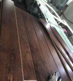 Suelo de madera dirigido roble ULTRAVIOLETA del color del café de Laqcuered