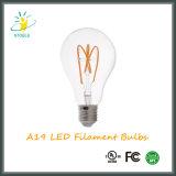 Stoele A19 5W 차 색깔 LED 전구 Edison 작풍