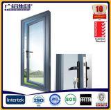 De Voordeur van /Entry van de Deur van de Schommeling van het Glas van het Frame van het aluminium/de Deur van de Gordijnstof en Scharnierende Deur