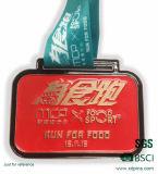 Medaglia corrente su ordinazione poco costosa del metallo di sport della corsa