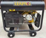 Generator van de Benzine van het Type van Begin P van 5.0 KW de Elektrische Draagbare met Vier Wielen
