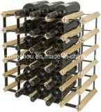 30 Flaschen-festes Holz-Wein-Zahnstangen-Farbanstrich-Wein-Halter