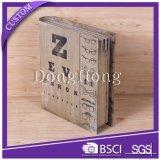 Impresión de CMYK Cartón libro caja de papel en forma de rompecabezas con la caja de embalaje