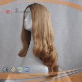 Blonder brasilianischer Menschenhaar-Spitze-Vorderseite-Perücke-Typ Silk oberste jüdische Perücke