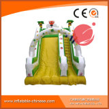 巨大な子供は滑らせる大きいスライド(T4-215)が付いている膨脹可能な弾力がある城を